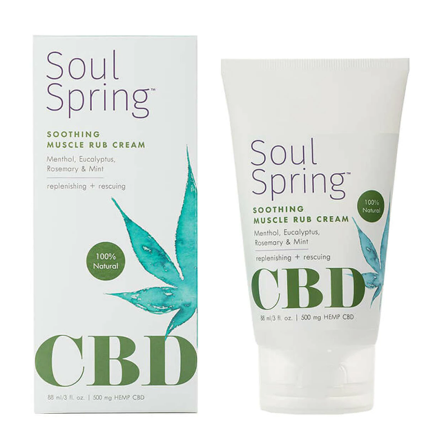 Soulspring - CBD Topical - Soothing Muscle Rub Cream