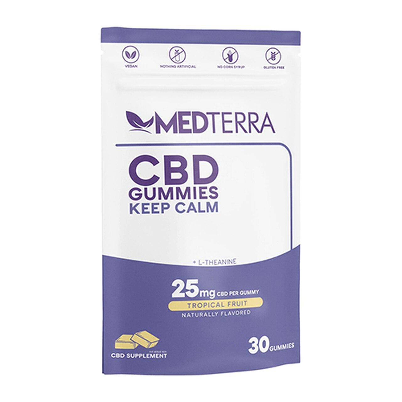 Medterra Keep Calm Tropical Fruit Isolate Gummies